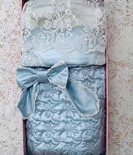 голубая лента для новорожденных