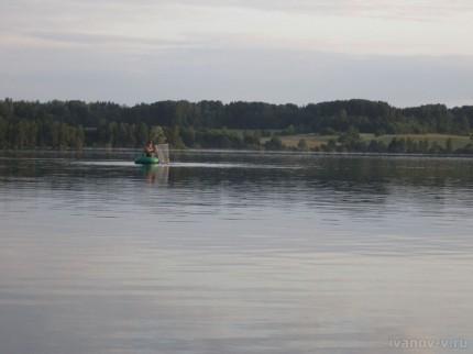 рыбалка на озере Волго