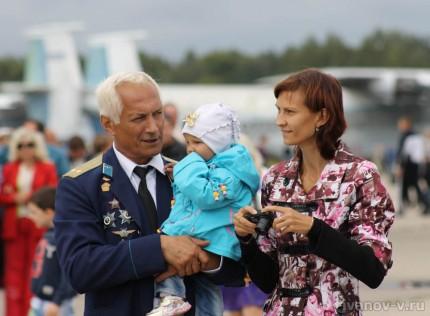 Праздник 100-летие авиации ВВС в Мигалово, летчики и новое поколение