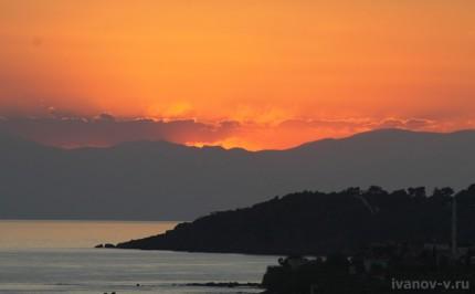 Заметки о Турции закат солнца