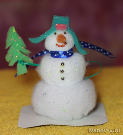 снеговик на Новый год