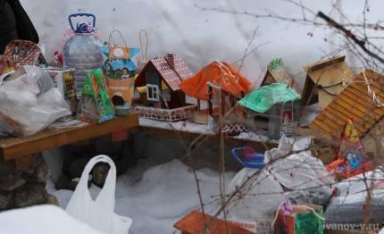 конкурс кормушек для птиц в ботаническом саду Тверского госуниверситета