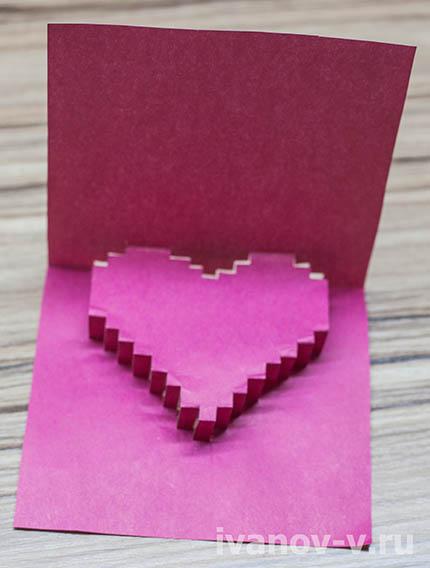 фото основной детали объемной валентинки