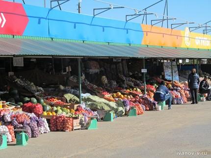 рынок в Харабали