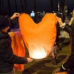 Запуск небесных фонариков 14 февраля